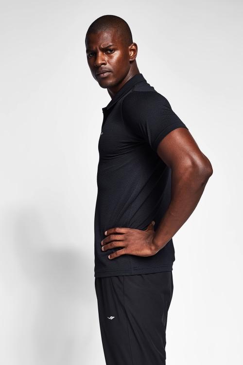 Siyah Erkek Polo Yaka T-Shirt 21S-1297-21N