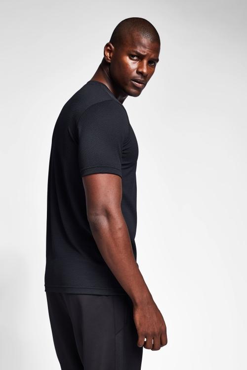 Siyah Erkek Kısa Kollu T-Shirt 21S-1298-21N
