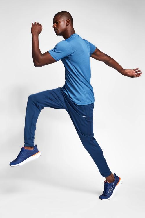 Derin Mavi Erkek Kısa Kollu T-Shirt 21S-1298-21N