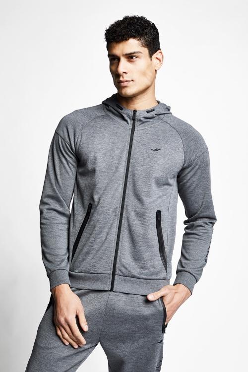 21N-1115 Men Hoodie Grey