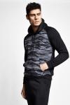 Siyah Erkek Kapüşonlu Sweatshirt 21N-1135