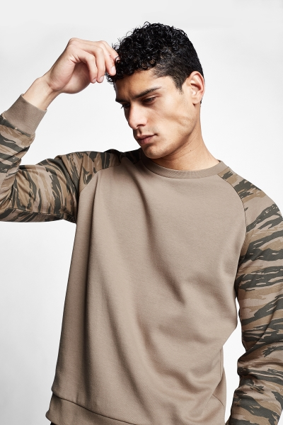 Gri Erkek Sweatshirt 21N-1136