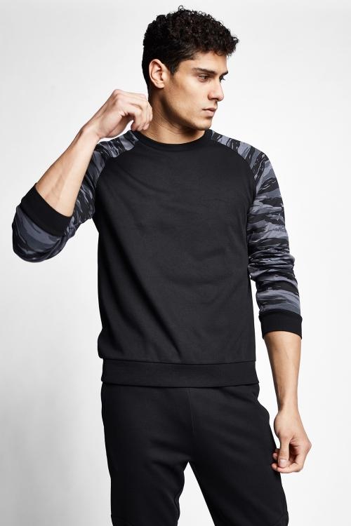 Siyah Erkek Sweatshirt 21N-1136
