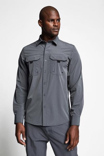 21Y-1060 Men Outdoor Shirt Grey