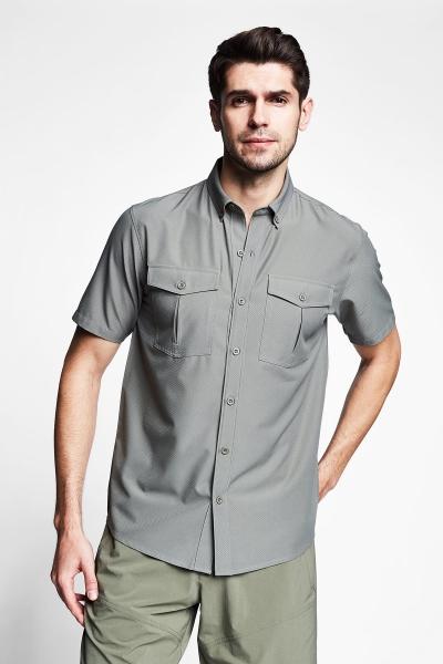 21Y-1061 Men Outdoor Shirt Green