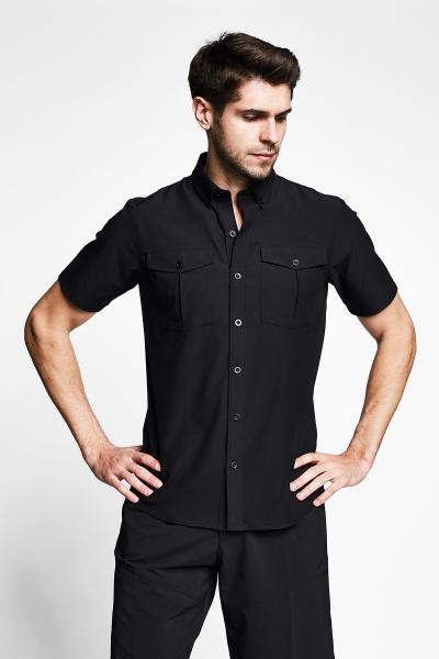 21Y-1061 Men Outdoor Shirt Black