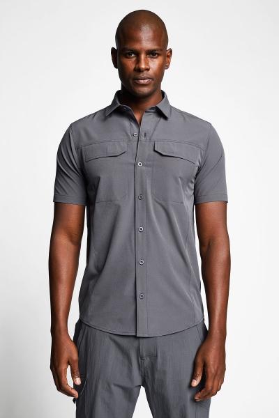 21Y-1062 Men Outdoor Shirt Grey