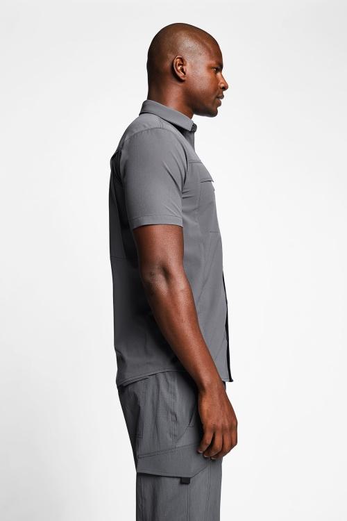 Antrasit Erkek Outdoor Kısa Kollu Gömlek 21Y-1062