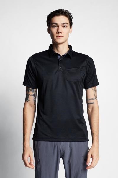 21Y-1065 Men Outdoor T-Shirt Black