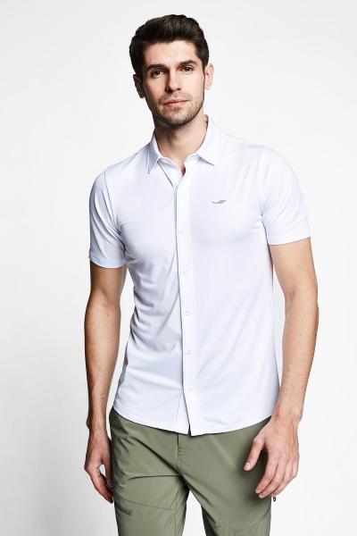 21Y-1158 Men Outdoor Shirt White