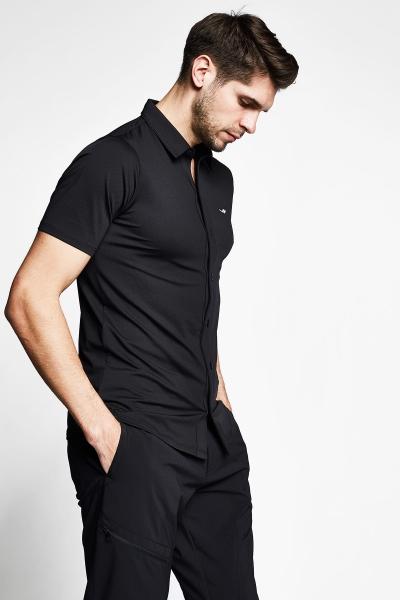 21Y-1158 Men Outdoor Shirt Black